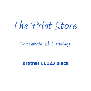 Brother LC123 Black Compatible Ink Cartridge