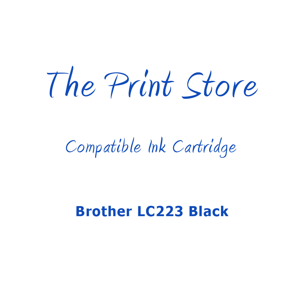 Brother LC223 Black Compatible Ink Cartridge