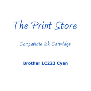 Brother LC223 Cyan Compatible Ink Cartridge