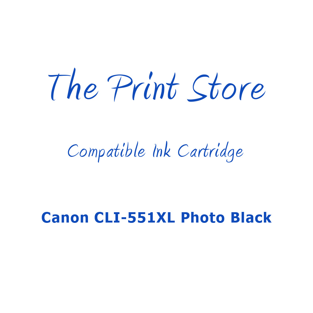 Canon CLI-551XL Photo Black Compatible Ink Cartridge