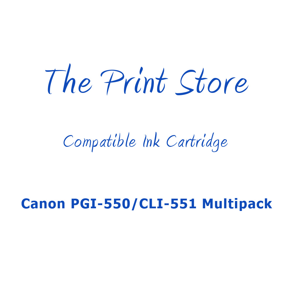 Canon PGI-550/CLI-551 Multipack Compatible Ink Cartridges