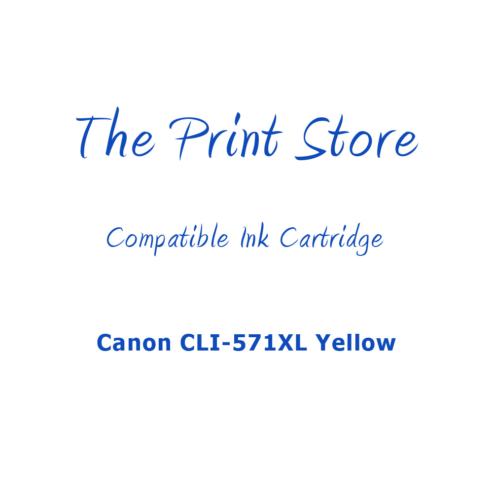 Canon CLI-571XL Yellow Compatible Ink Cartridge
