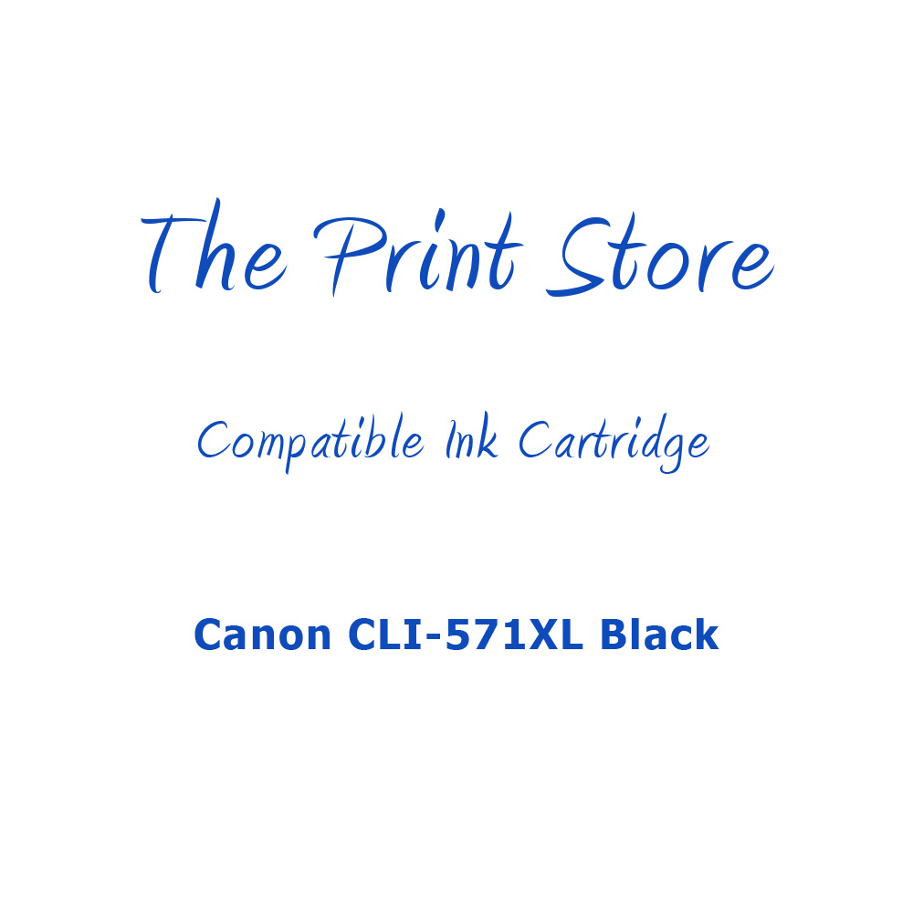 Canon CLI-571XL Black Compatible Ink Cartridge