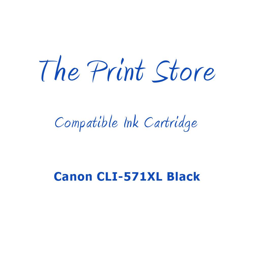Canon CLI-571XL Black Compatible Ink Cartridge