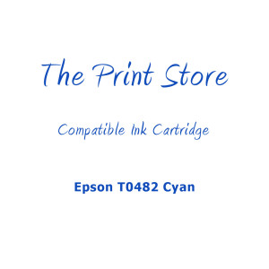 Epson T0482 Cyan Compatible Ink Cartridge