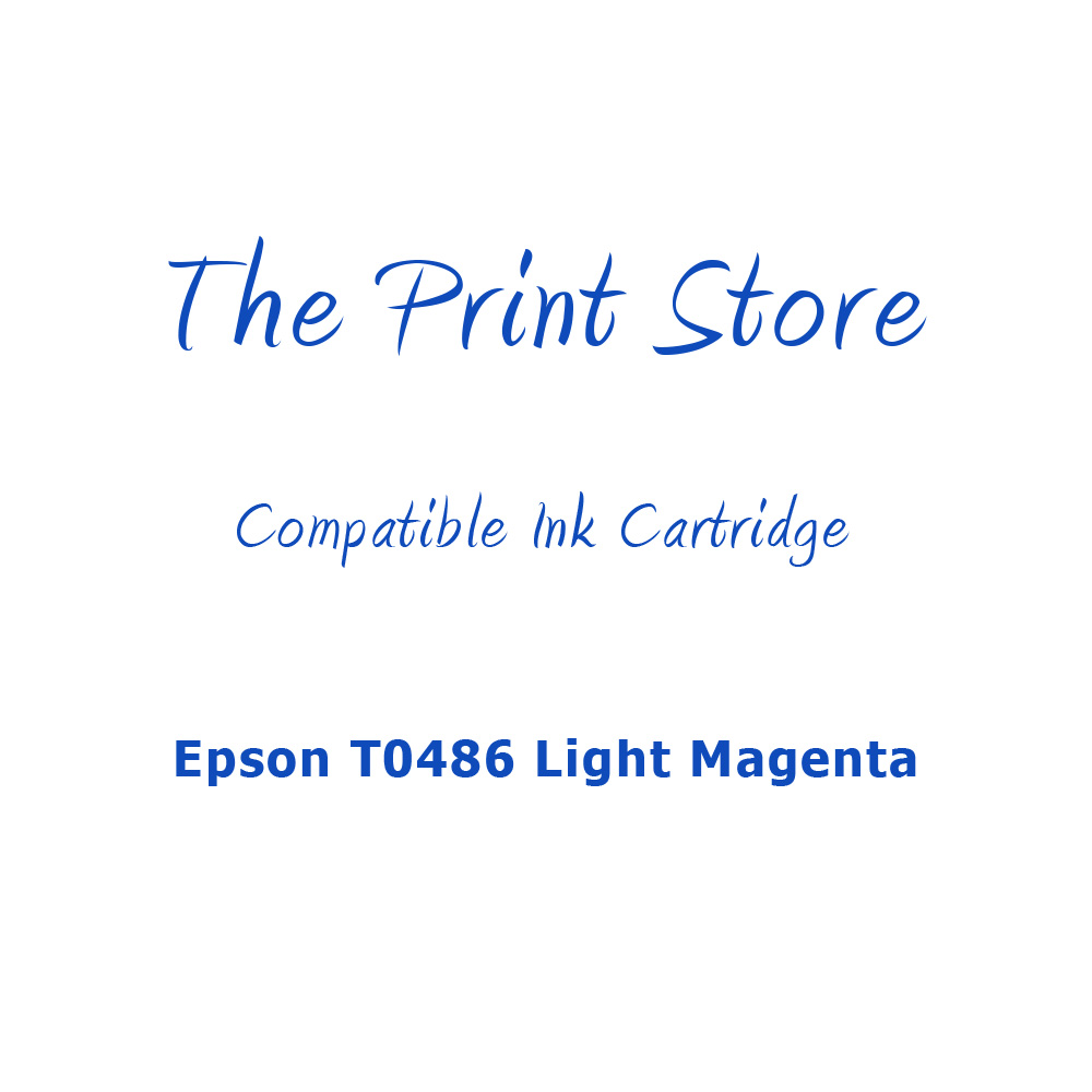 Epson T0486 Light Magenta Compatible Ink Cartridge