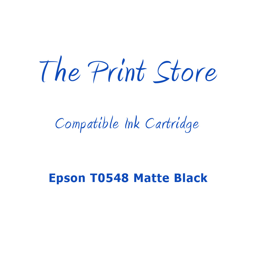 Epson T0548 Matte Black Compatible Ink Cartridge