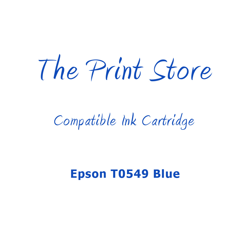 Epson T0549 Blue Compatible Ink Cartridge