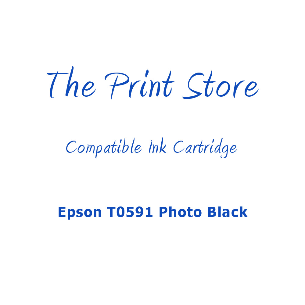 Epson T0591 Photo Black Compatible Ink Cartridge