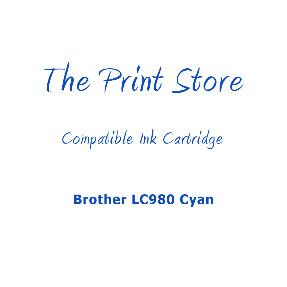 Brother LC980 Cyan Compatible Ink Cartridge