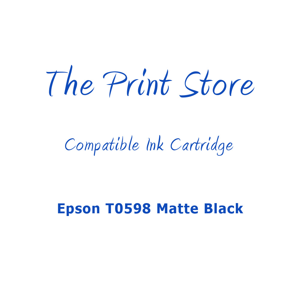 Epson T0598 Matte Black Compatible Ink Cartridge