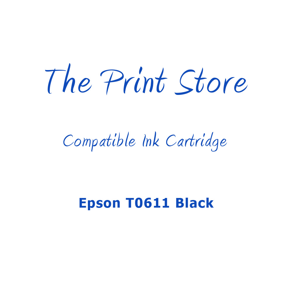 Epson T0611 Black Compatible Ink Cartridge