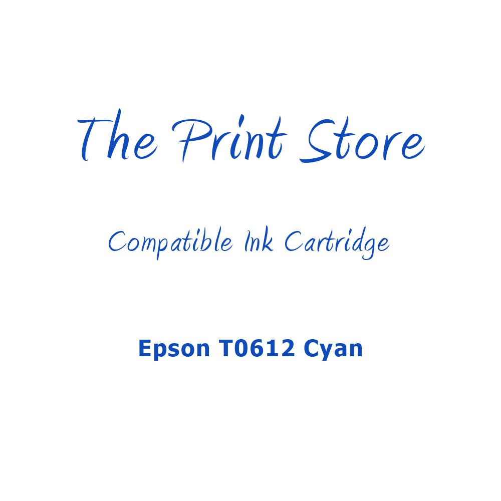 Epson T0612 Cyan Compatible Ink Cartridge