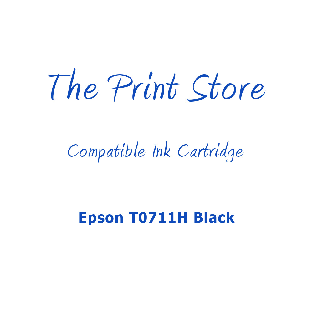 Epson T0711H Black Compatible Ink Cartridge