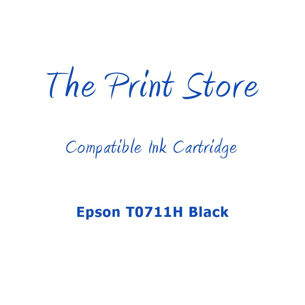 Epson T0711H Black Compatible Ink Cartridge