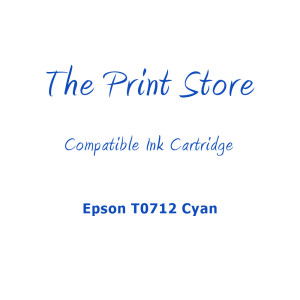 Epson T0712 Cyan Compatible Ink Cartridge