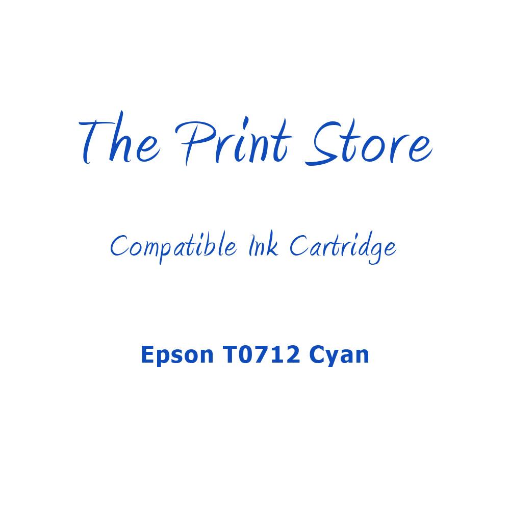 Epson T0712 Cyan Compatible Ink Cartridge