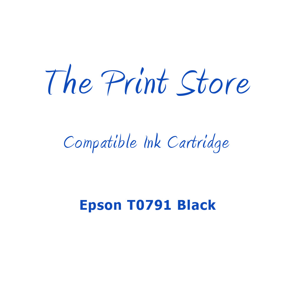 Epson T0791 Black Compatible Ink Cartridge
