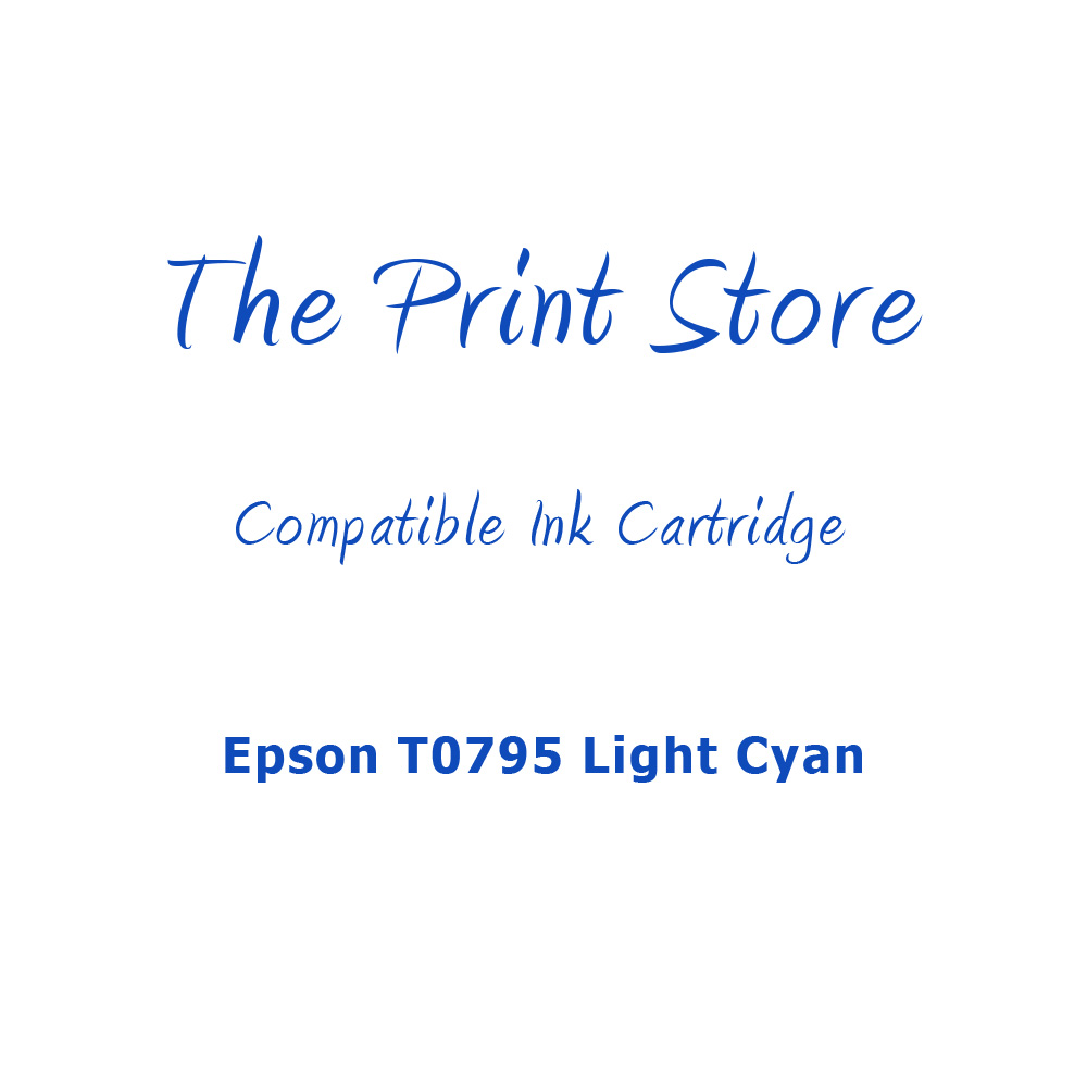 Epson T0795 Light Cyan Compatible Ink Cartridge