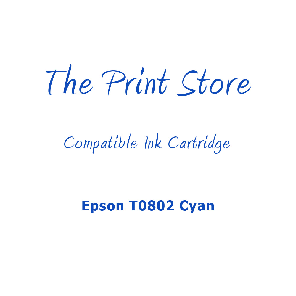 Epson T0802 Cyan Compatible Ink Cartridge