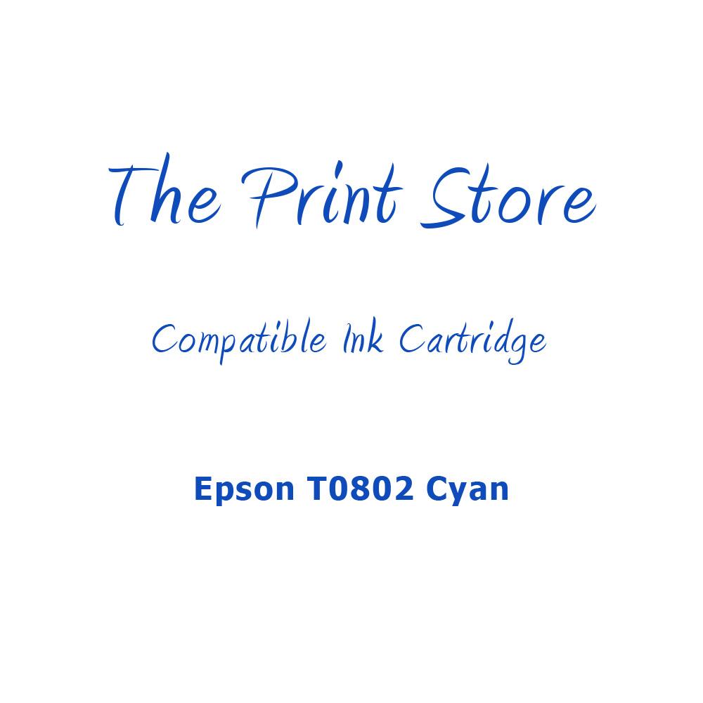 Epson T0802 Cyan Compatible Ink Cartridge