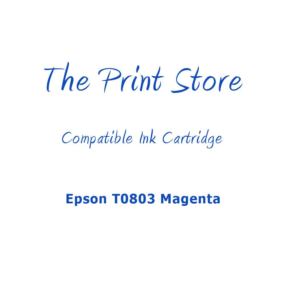 Epson T0803 Magenta Compatible Ink Cartridge