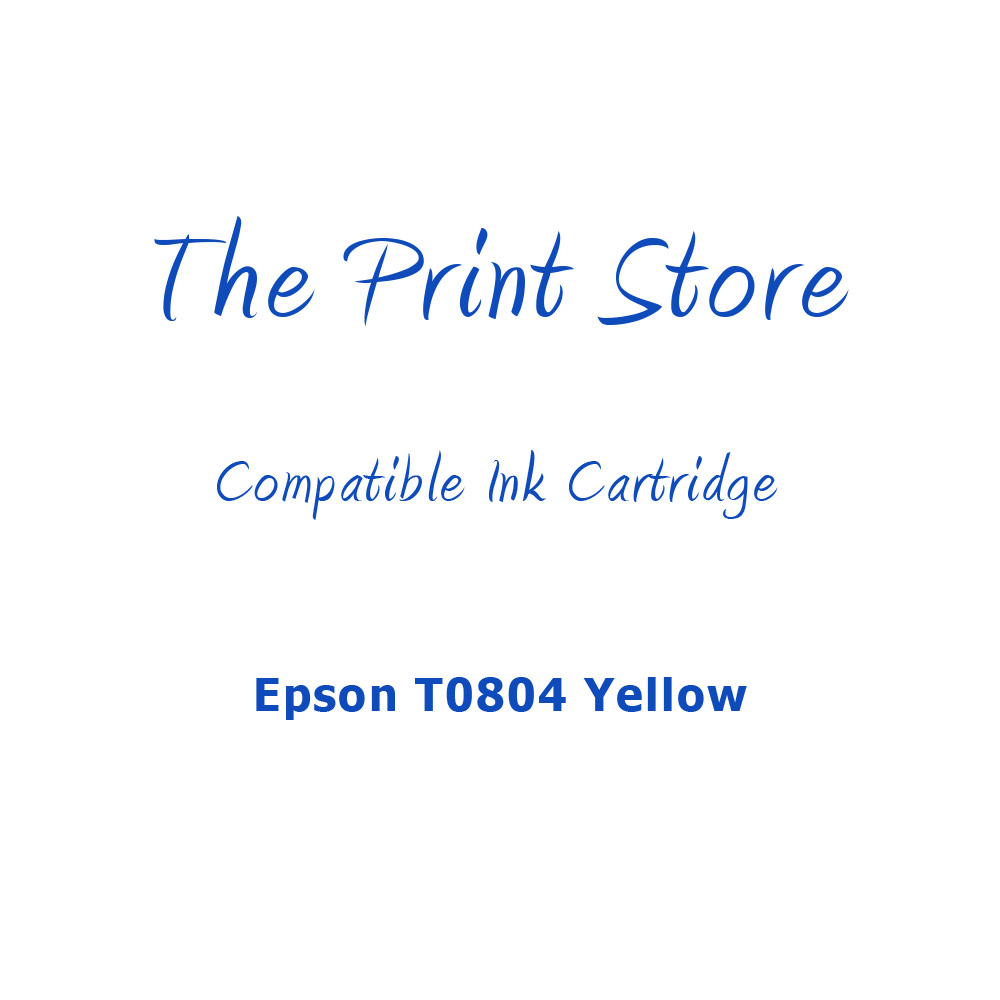 Epson T0804 Yellow Compatible Ink Cartridge