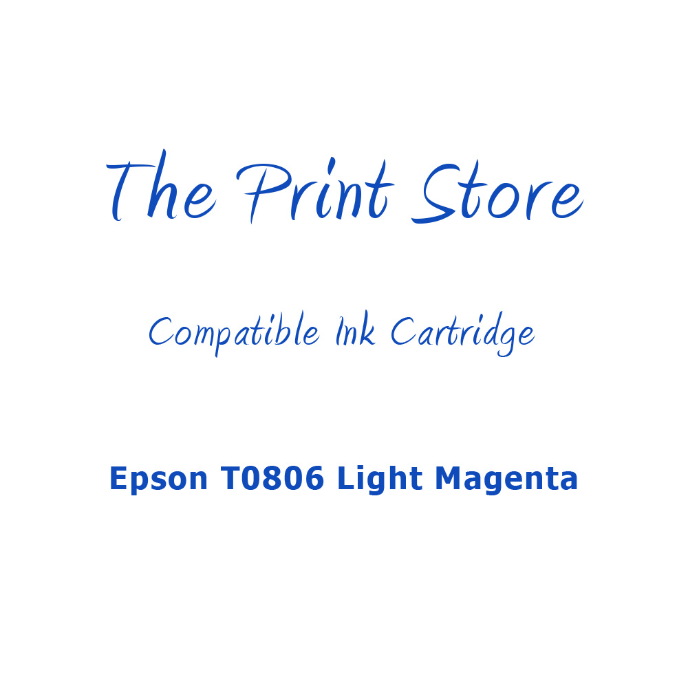 Epson T0806 Light Magenta Compatible Ink Cartridge