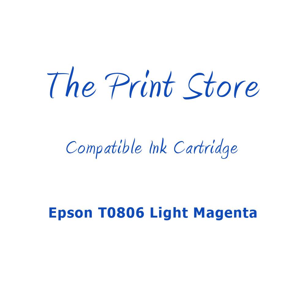 Epson T0806 Light Magenta Compatible Ink Cartridge