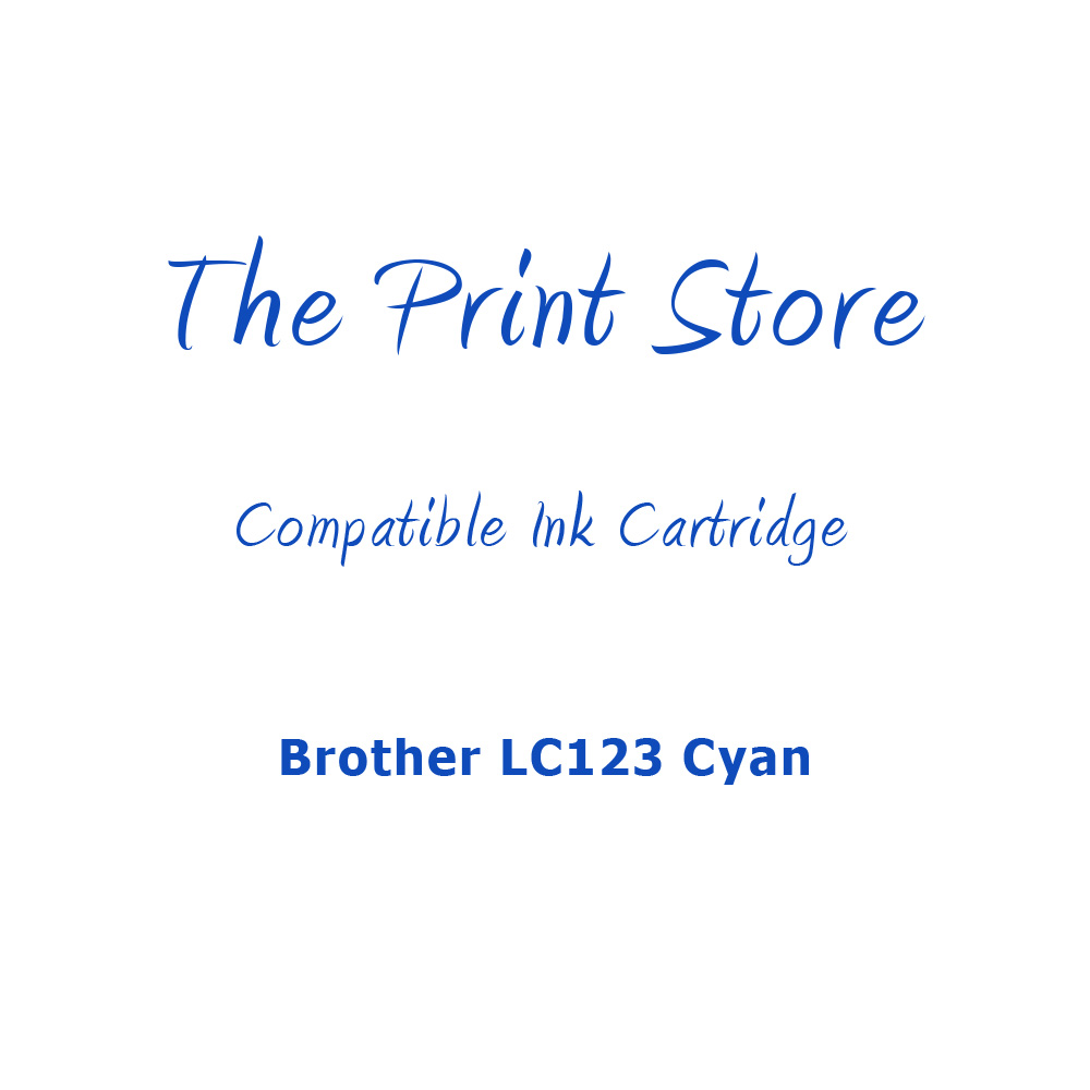Brother LC123 Cyan Compatible Ink Cartridge