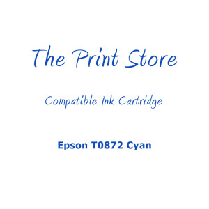 Epson T0872 Cyan Compatible Ink Cartridge