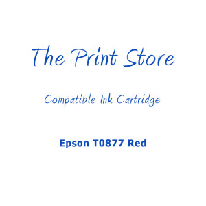Epson T0877 Red Compatible Ink Cartridge