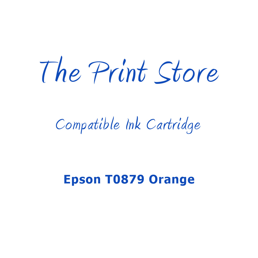 Epson T0879 Orange Compatible Ink Cartridge