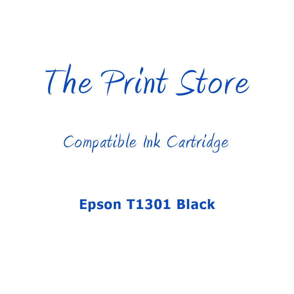 Epson T1301 Black Compatible Ink Cartridge