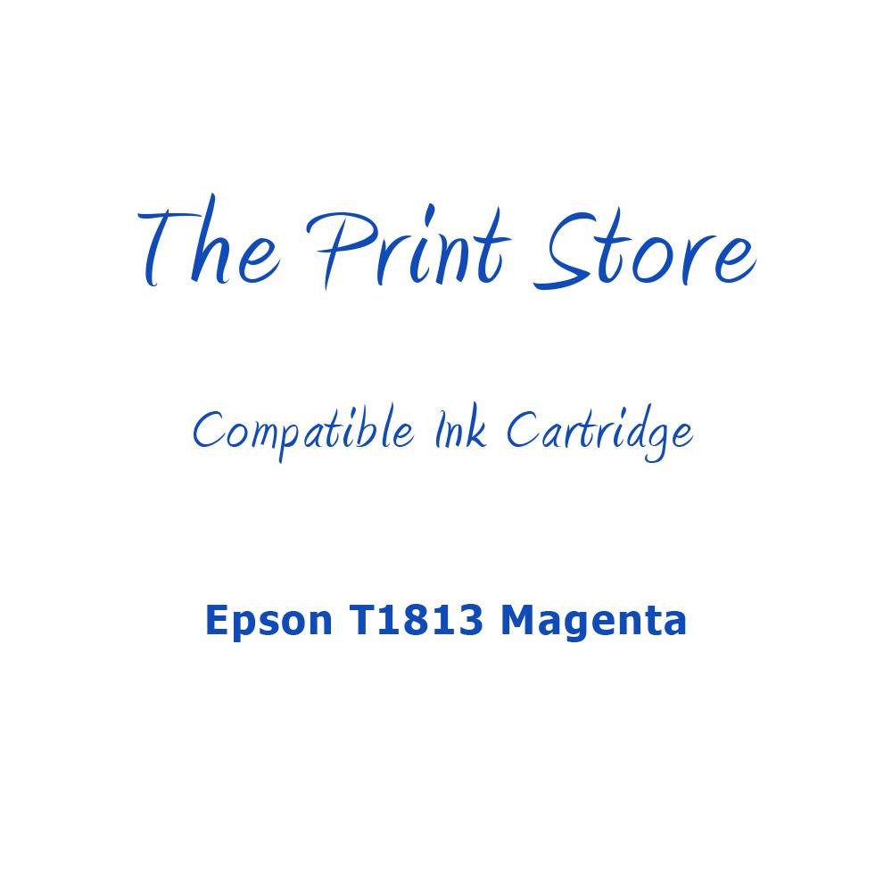 Epson T1813XL Magenta Compatible Ink Cartridge