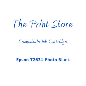 Epson T2631 Photo Black Compatible Ink Cartridge