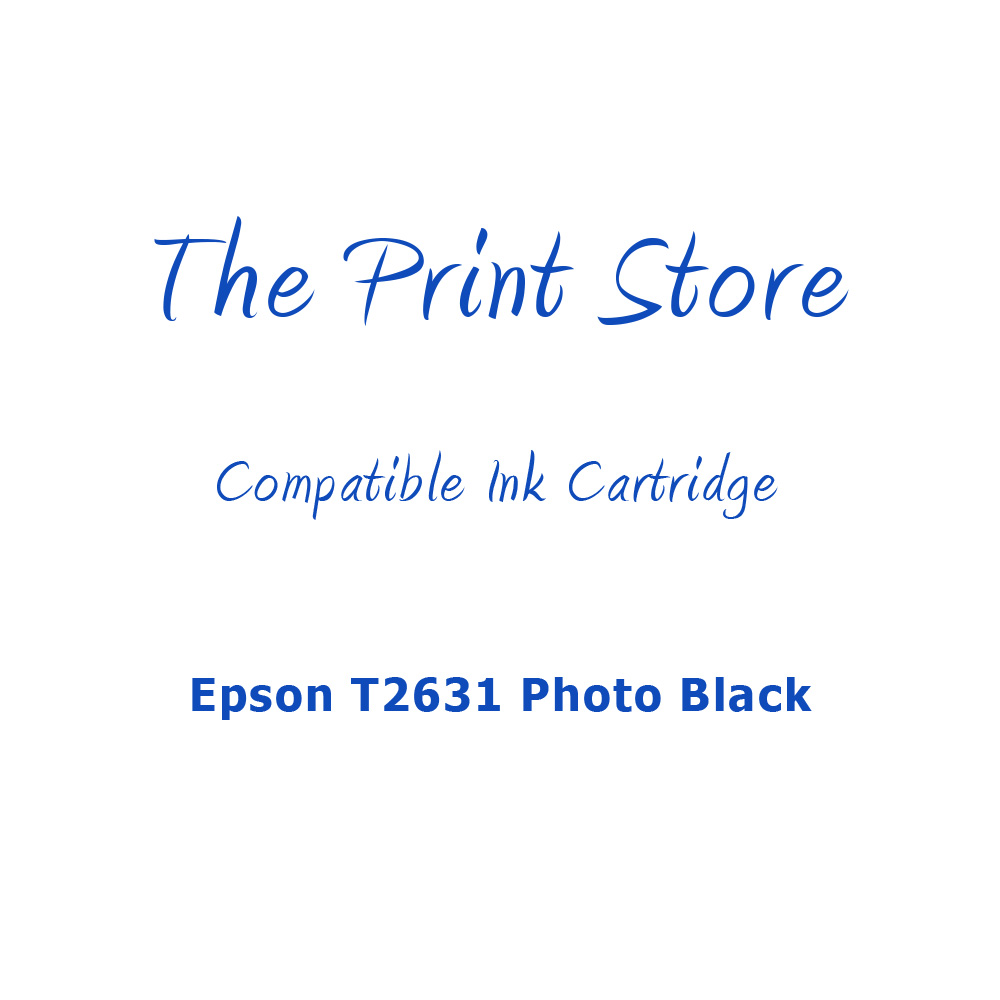 Epson T2631 Photo Black Compatible Ink Cartridge