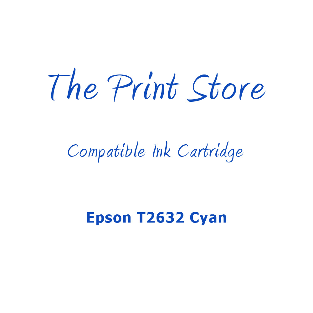 Epson T2632 Cyan Compatible Ink Cartridge