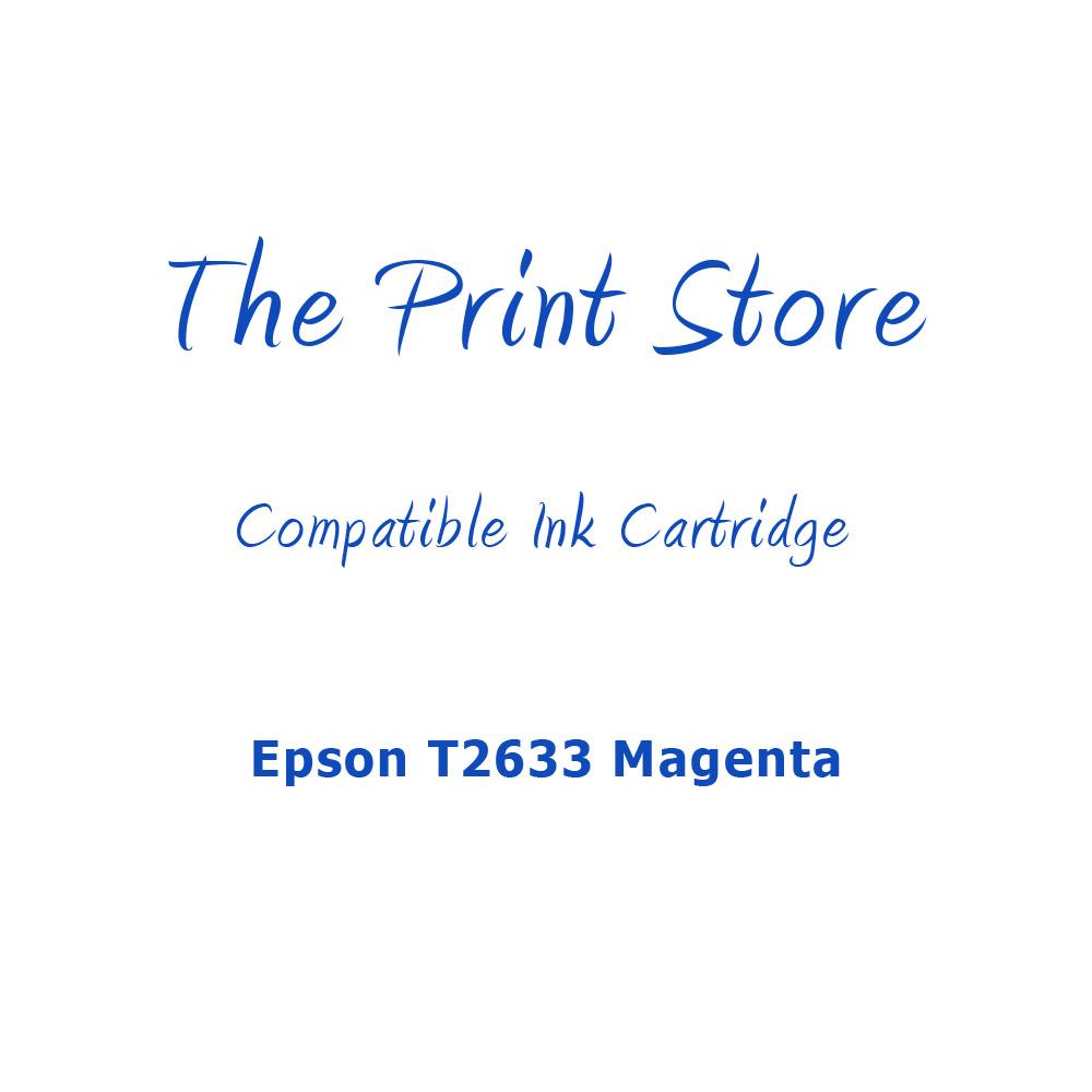Epson T2633 Magenta Compatible Ink Cartridge
