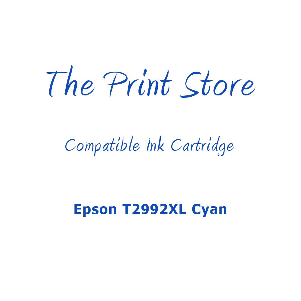 Epson T2992XL Cyan Compatible Ink Cartridge