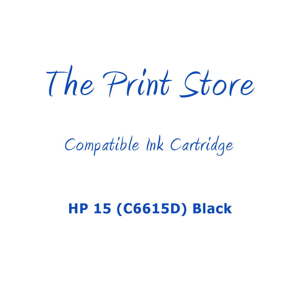 HP 15 (C6615D) Black High Capacity Compatible Ink Cartridge