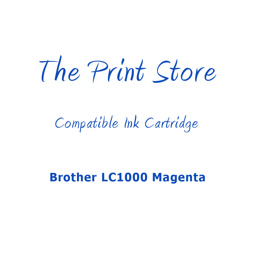 Brother LC1000 Magenta Compatible Ink Cartridge