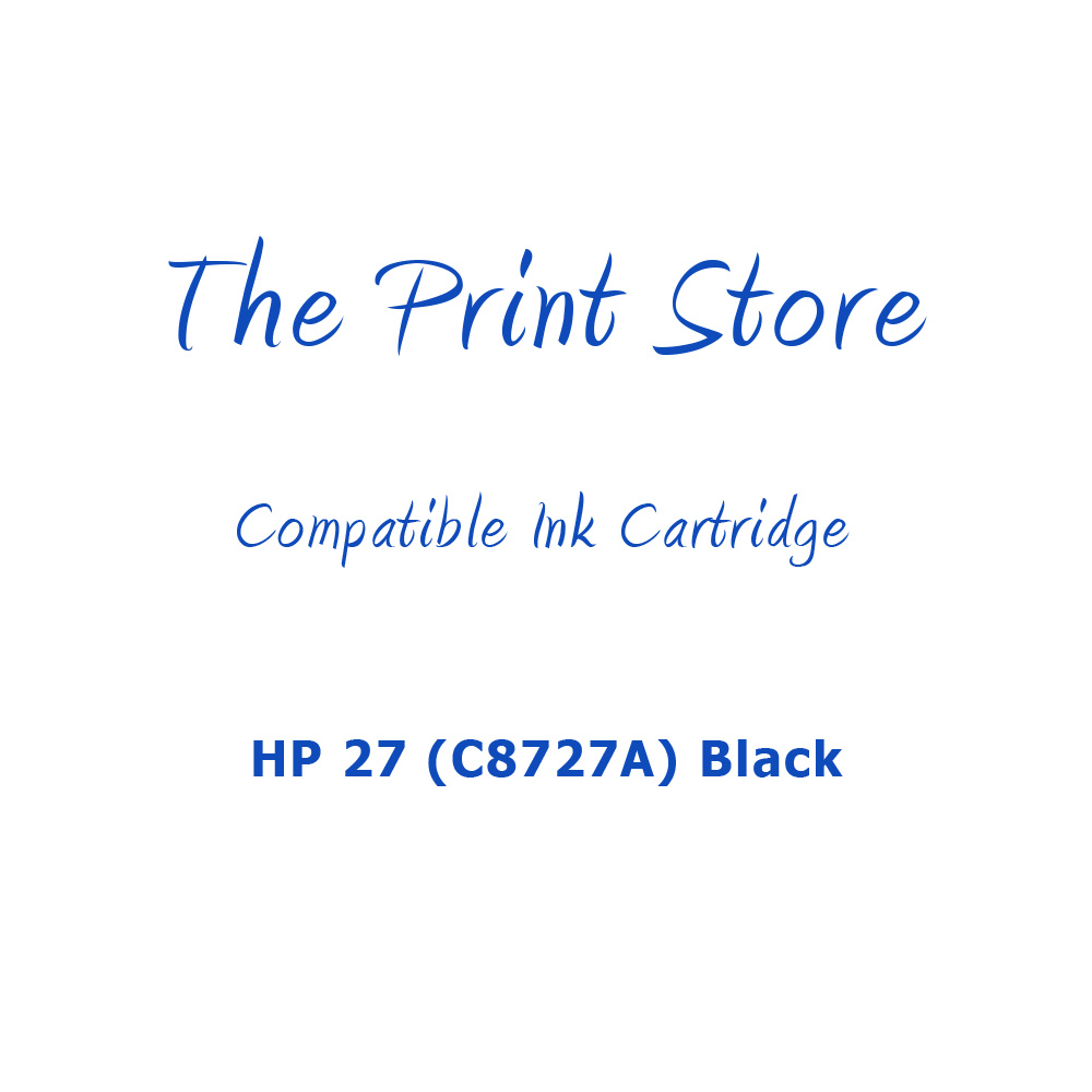 HP 27 (C8727A) Black Compatible Ink Cartridge
