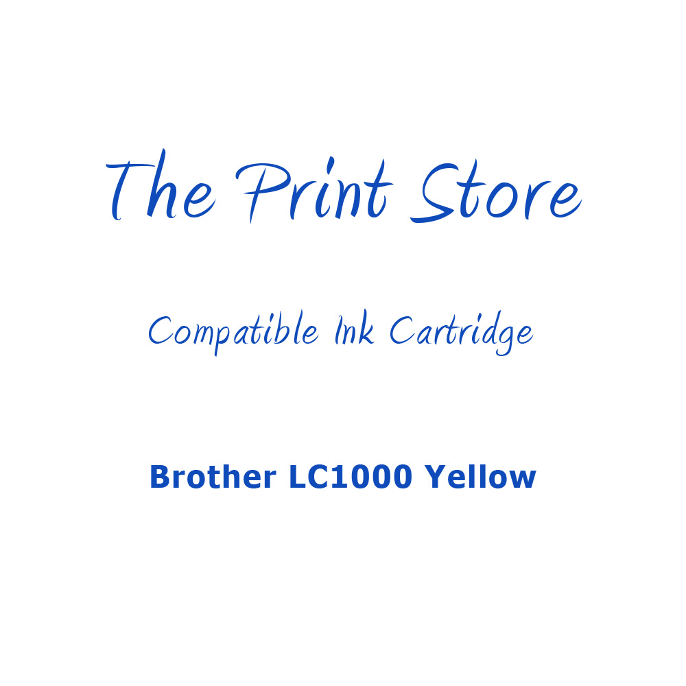 Brother LC1000 Yellow Compatible Ink Cartridge