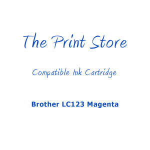 Brother LC123 Magenta Compatible Ink Cartridge