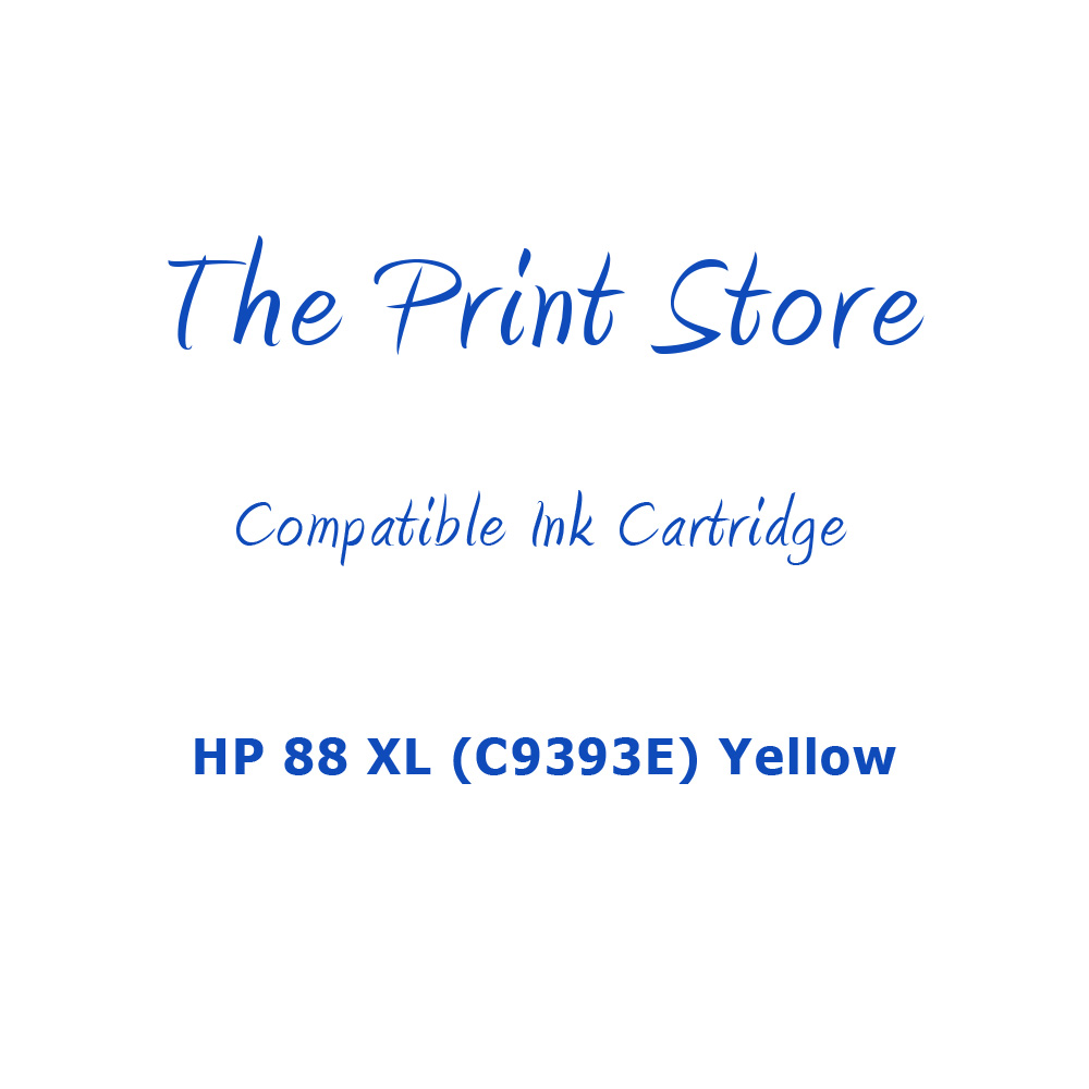 HP 88 XL (C9393E) Yellow Compatible Ink Cartridge