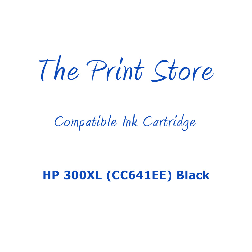 HP 300XL (CC641EE) Black Compatible Ink Cartridge