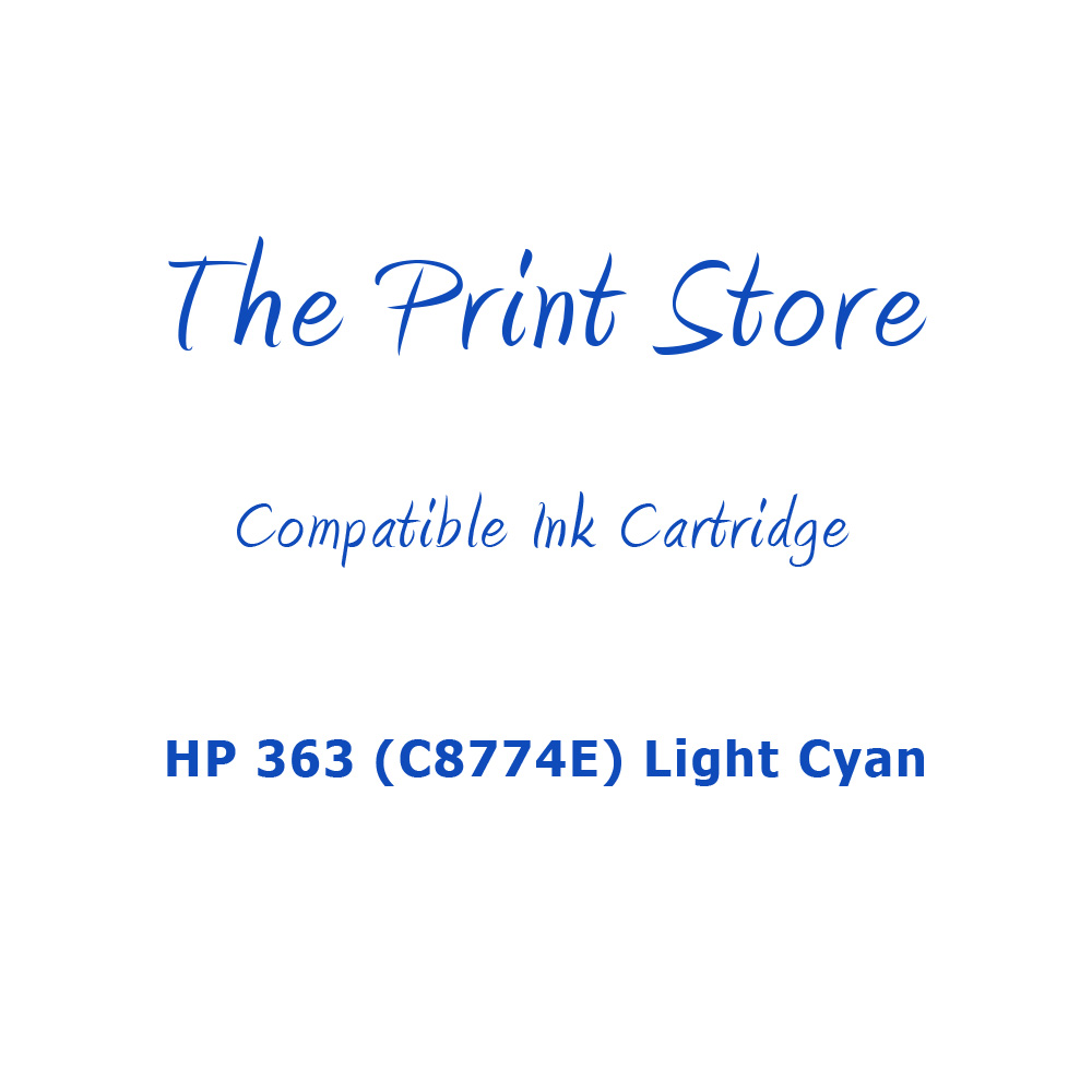 HP 363 (C8774E) Light Cyan Compatible Ink Cartridge