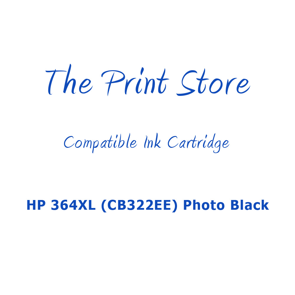 HP 364XL (CB322EE) Photo Black Compatible Ink Cartridge
