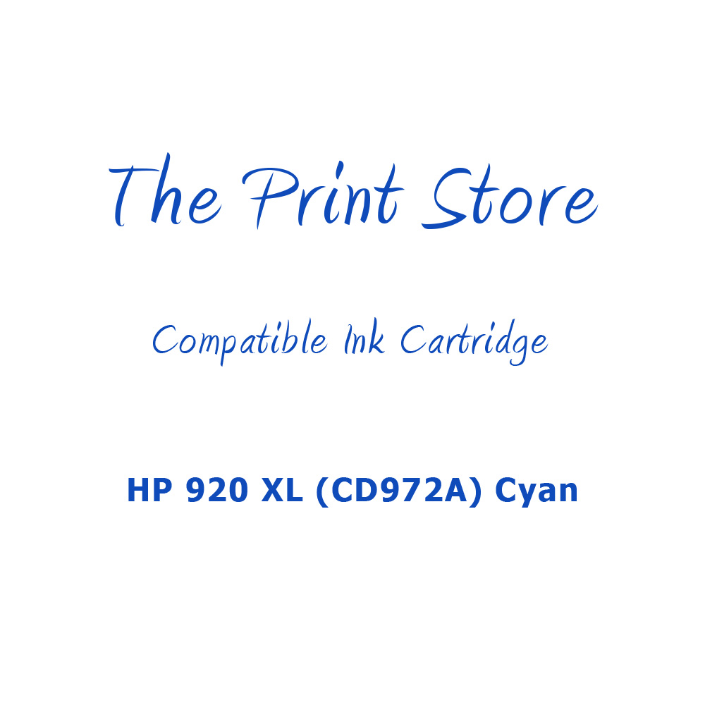 HP 920XL (CD972A) Cyan Compatible Ink Cartridge